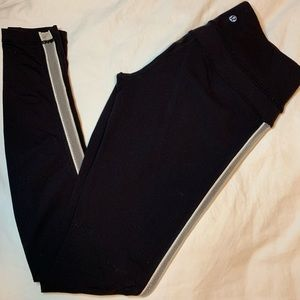 Lulu Lemon Black With White Mesh leggings